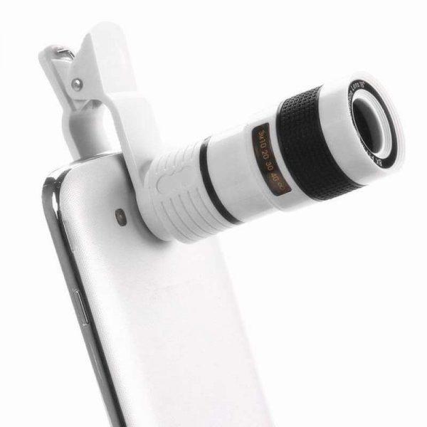 12x Mobile Clip Lens White