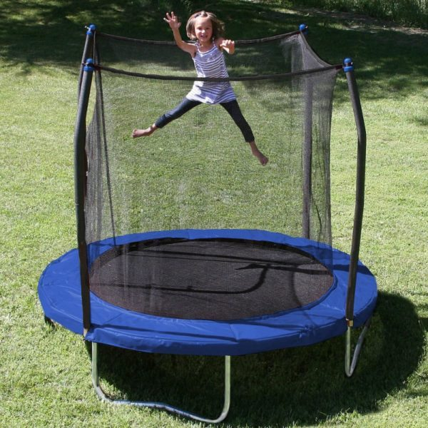 8-Foot Trampoline with Safety Enclosure