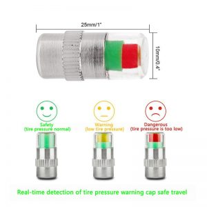 Telebrands Air Alert Warning Tire Valve PAK