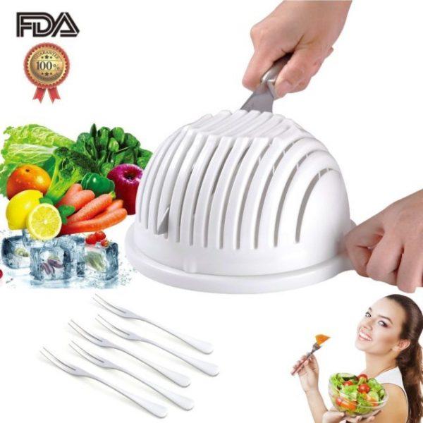 Easy Salad Cutter Bowl PK