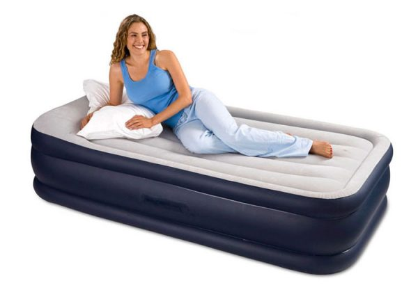 Intex Deluxe Air Mattress with Builtin Pump and Pillow Rest in PAKISTAN