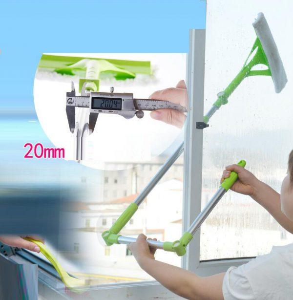 Telescopic High-rise Multifunctional Window Glass Cleaner Brush PK