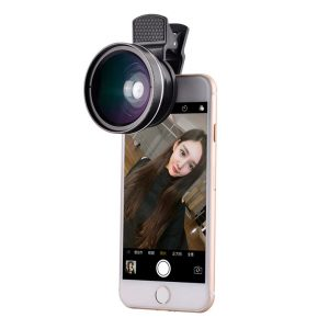 Universal 2 in Mobile Phone Camera Lens Kit Black