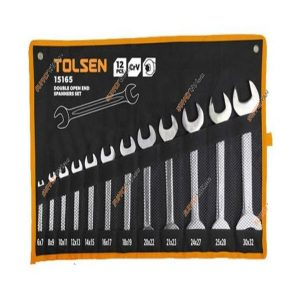 Tolsen 15165 12 Pieces Double Open End Spanners Set PK